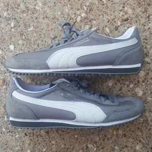 Puma Whirlwind Athletic Sneakers Grey Mens 9